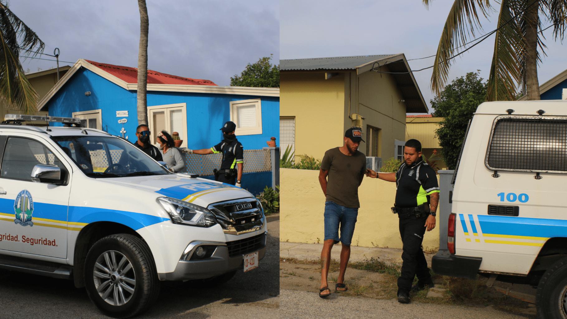 Polis a detene pareha bringado na Savaneta
