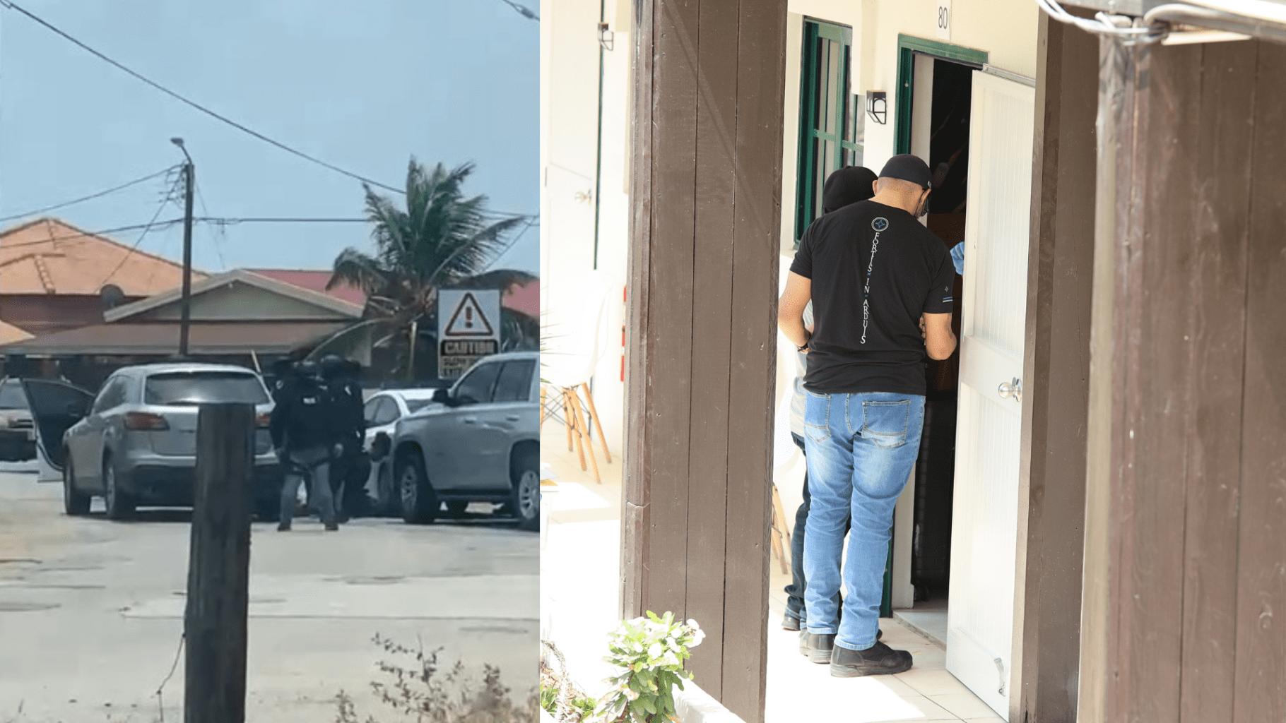 Mas detencion y entrada hudicial: Por lo menos cuater persona deteni