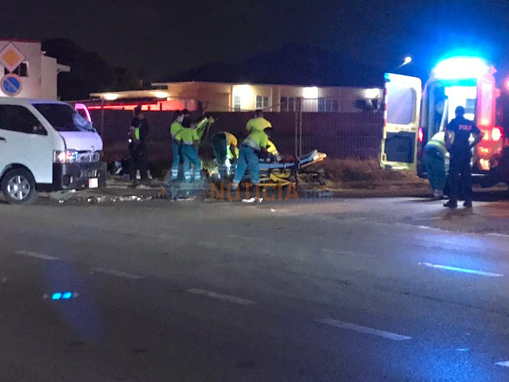 Motociclista a fayece den accidente band'i Linear Park
