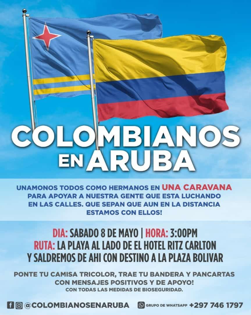 Caravana di Comunidad Colombiano na Aruba plania pa mañan no tin permiso di KPA