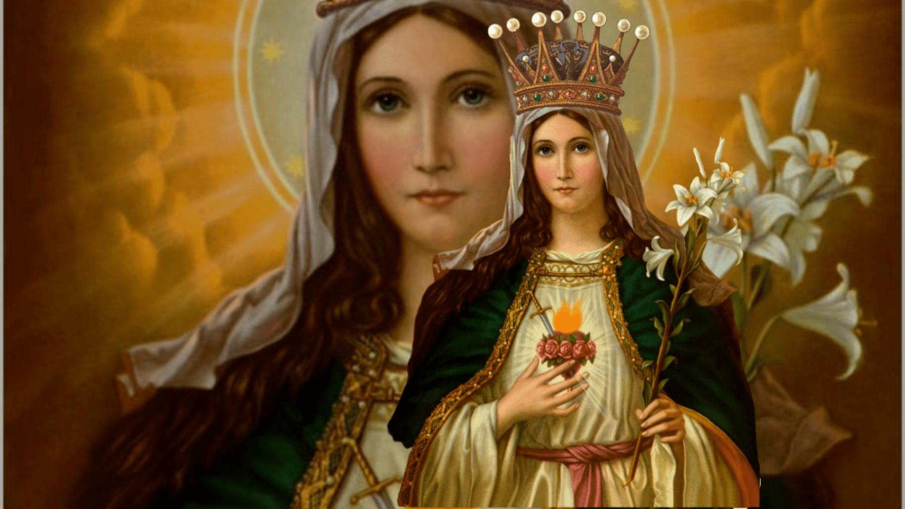 Santo Rosario na monumento di Inmaculada Curason di Maria