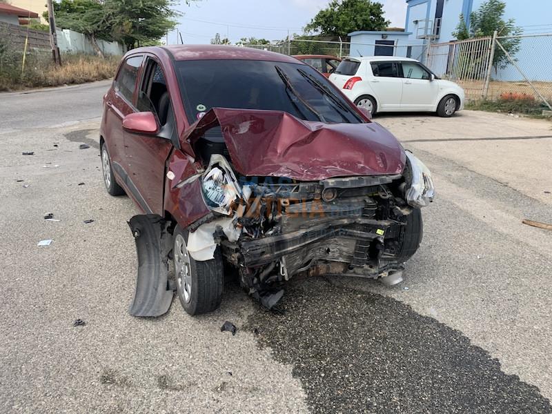 Accidente den birada skerpi na Sabana Blanco cu persona herida