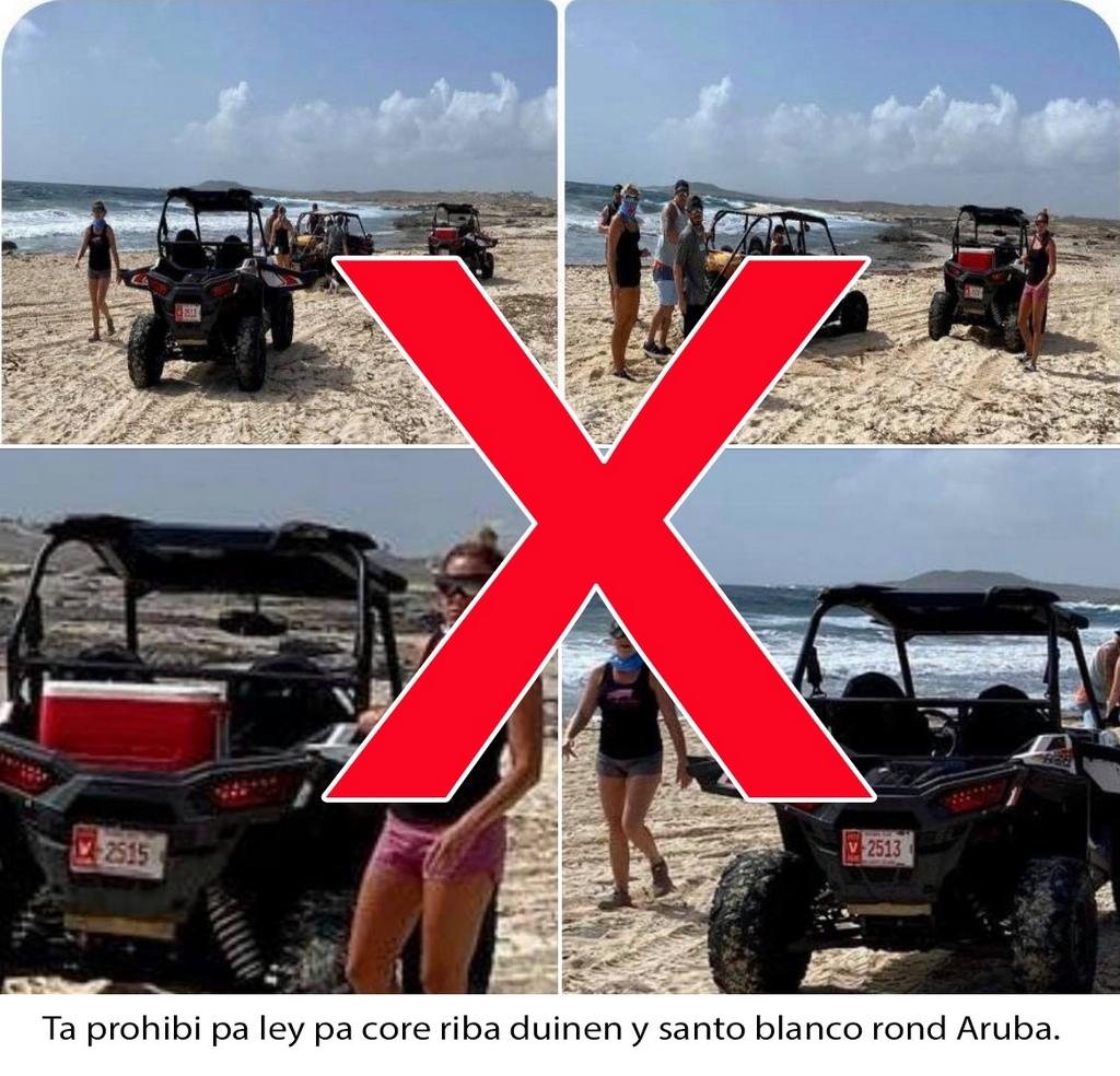 Gobierno di Aruba ta condena destruccion di naturalesa