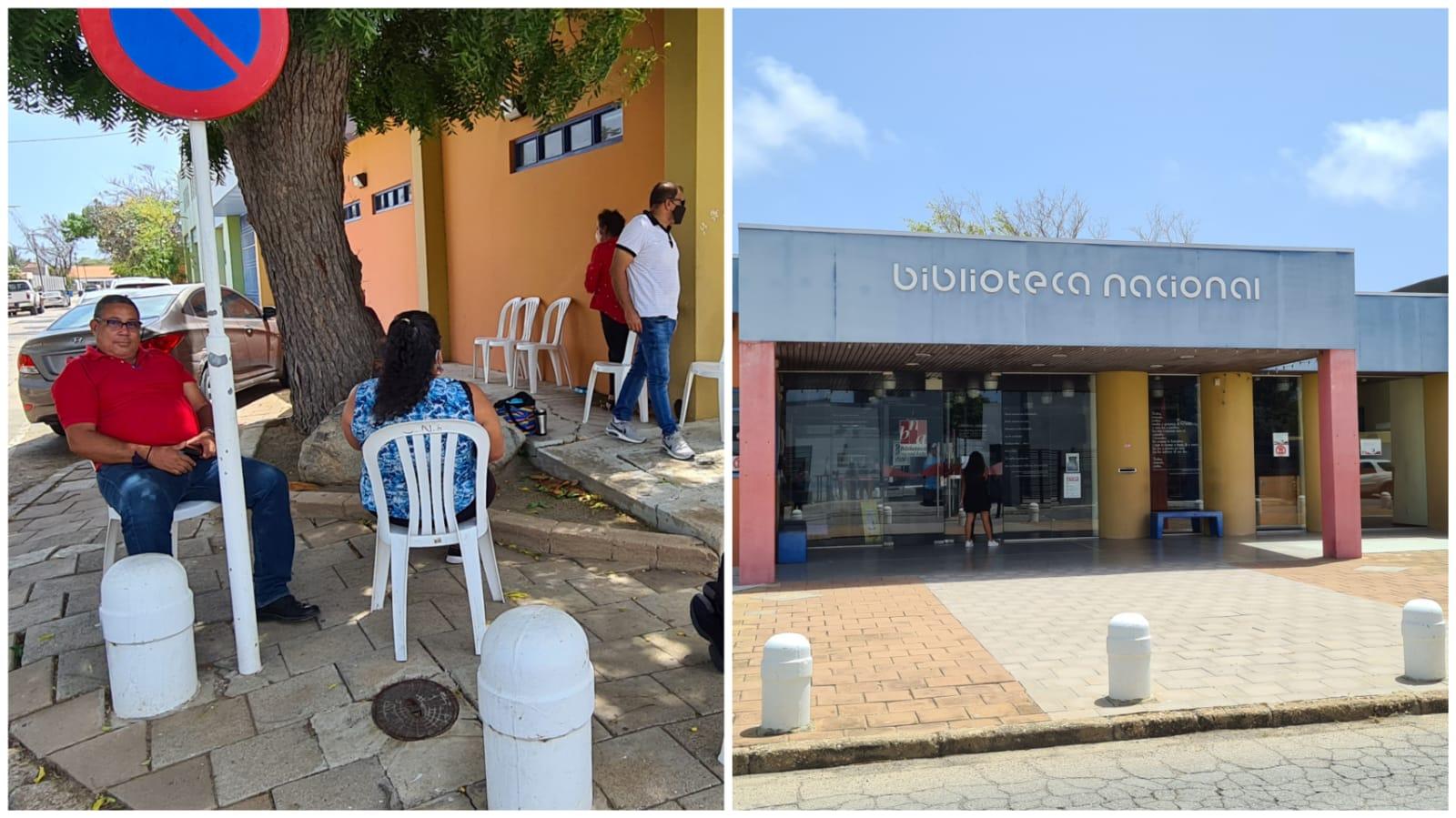 Trahadonan a walk out: Biblioteca Nacional sin airco fo'i Diabierna