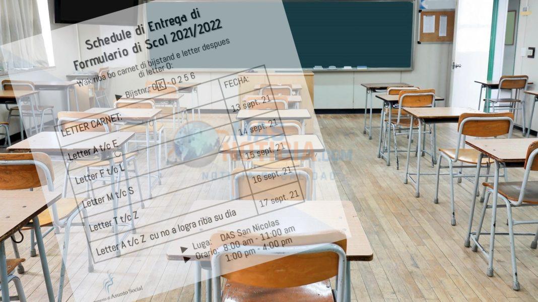 DAS: Esaki ta e siman pa entrega Formulario di Scol pa aña escolar
