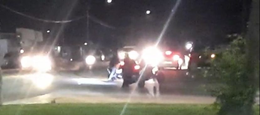 Motociclistanan causando problema riba caya y polis a bay pa nan