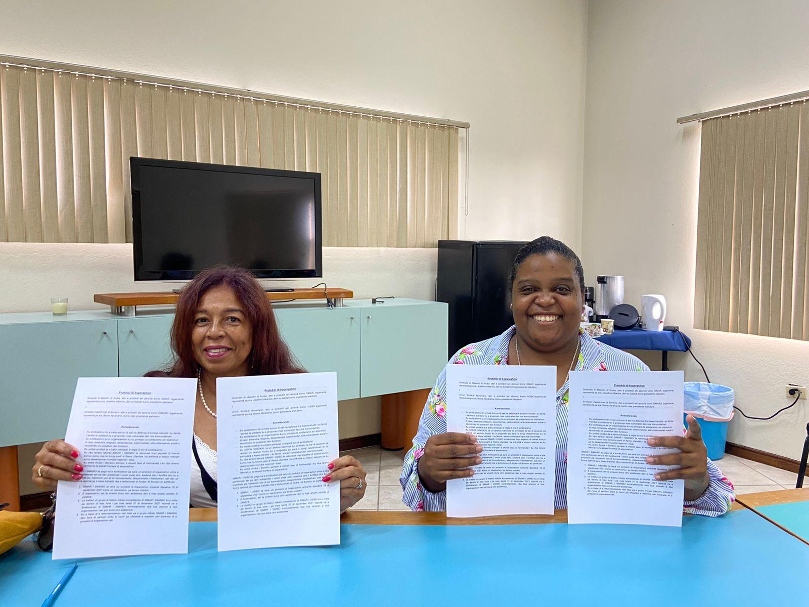 SIMAR a firma convenio cu dos sindicato di Boneiro