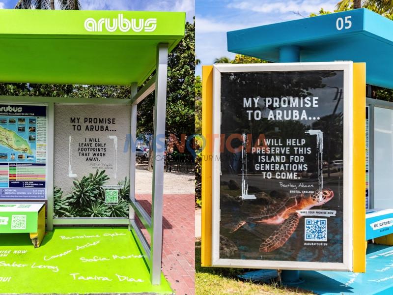 """Campaña di Conscientisacion """"My Promise to Aruba"""" ta conoce continuacion cu imagennan nobo"""