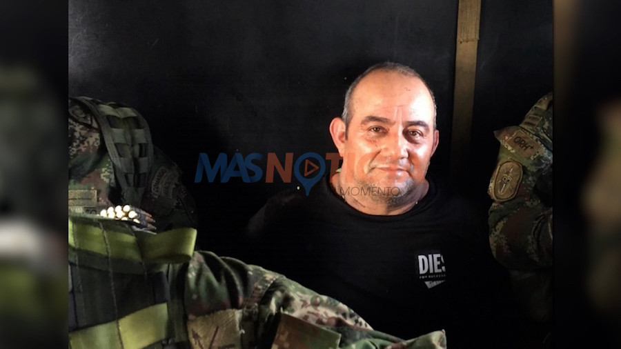 "A Captura Alias ""Otoniel"", e narcotraficante mas busca di Colombia y hefe di ""Clan del Golfo"""